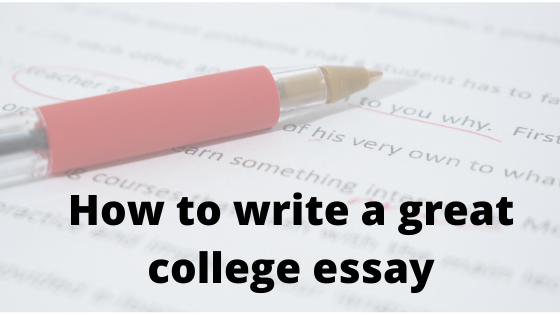Great college essay Title